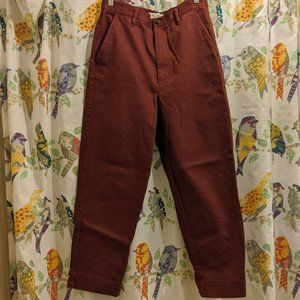 Madewell Tapered Pant Burgundy / Red